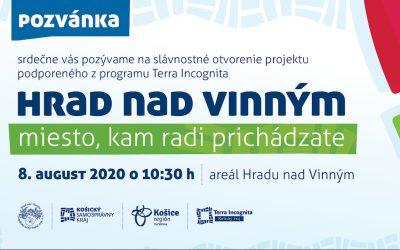 8. AUGUST 2020 – Slávnostné otvorenie projektu na Vinianskom hradu