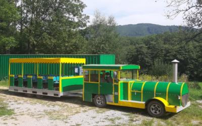Turistický vláčik v meste Gelnica a okolí