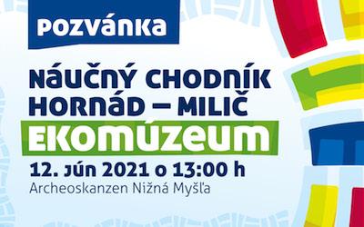 12. JÚN 2021 – Slávnostné otvorenie projektu Hornád – Milič
