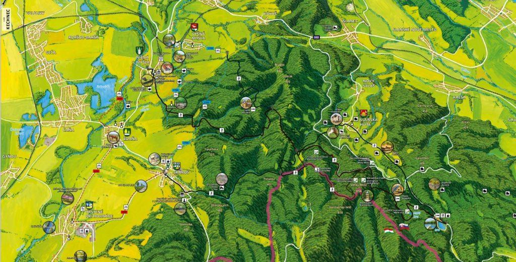 maľovaná mapa - hornád milič